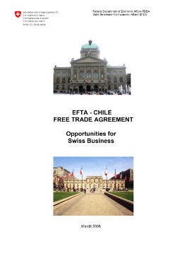 EFTA-Chile Free Trade Agreement; Opportunities for Swiss Business-1