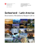 Rapport Suisse - Amérique latine, Economic Relations Report 2014-1